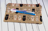 Lucky Cat, Maneki Neko Pencil Case - The Curious Needle