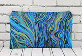 Marbled Peacock Pencil Case, Jewel Toned Pencil Bag, Makeup Case - The Curious Needle