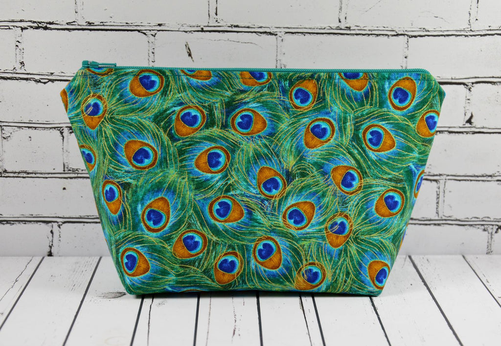 Peacock Print Make Up Bag