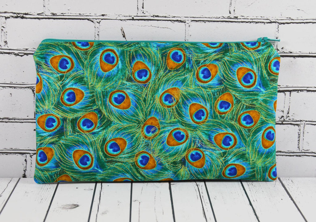 Peacock Feathers Pencil Case