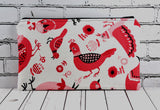 Pink Bird Pencil Case - The Curious Needle