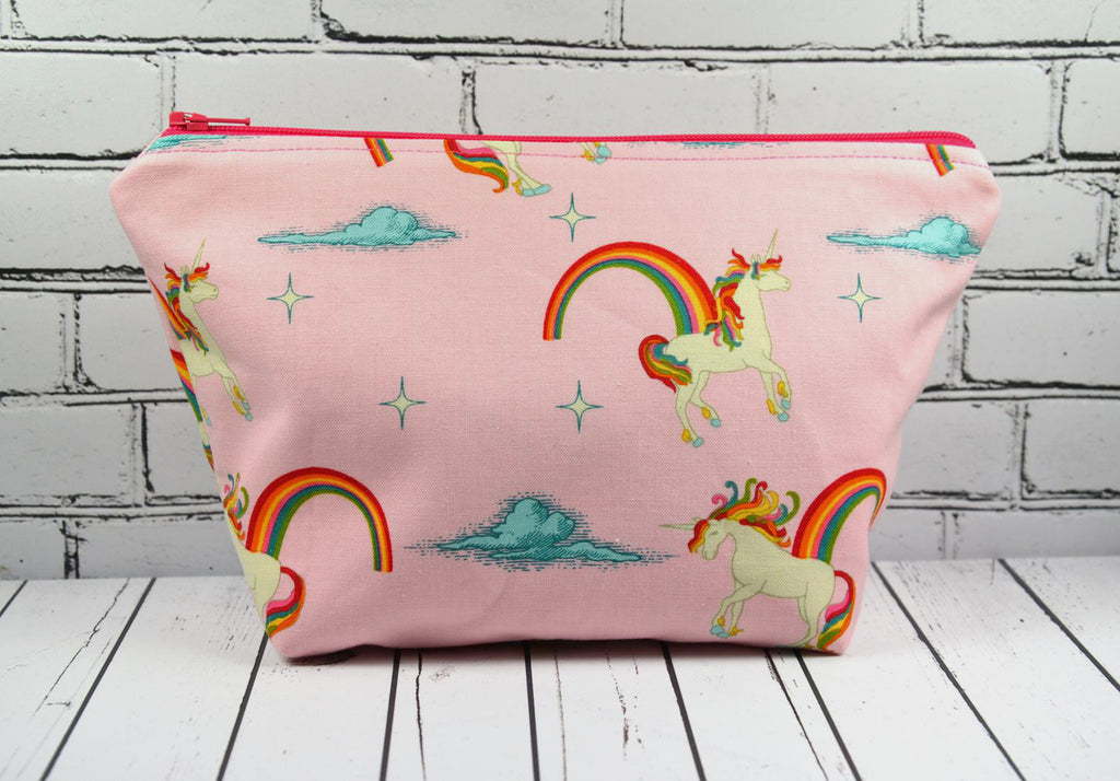 Pink Unicorn Makeup Bag