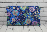 Purple Metallic Floral Pencil Case