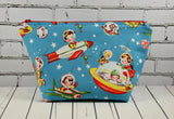 Retro Spaceship Cosmetic Pouch