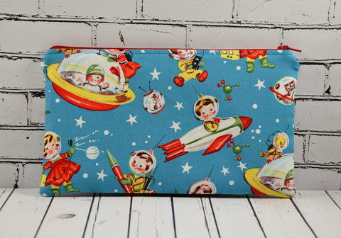 Retro Rascals Spaceship Pencil Case - The Curious Needle