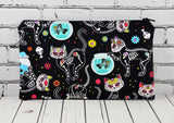 Cat Sugar Skull Pencil Case - The Curious Needle