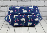 Swan Makeup Bag, Swan Cosmetic Zip Pouch