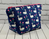 Swan make up bag
