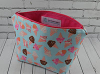 Ice Cream Makeup Bag, Kawaii Large Zip Pouch