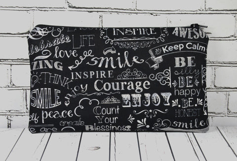 Chalkboard Pencil Case, Motivational Gift