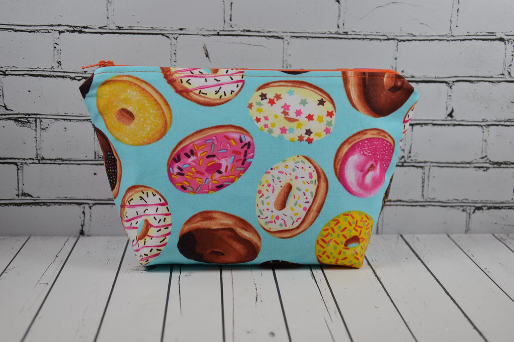 Donut Makeup Bag, Kawaii Food Large Zip Pouch