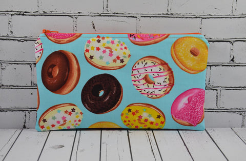 Donuts Pencil Case, Kawaii Print Pencil Pouch - The Curious Needle