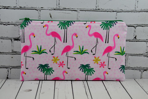 Tropical Flamingo Pencil Case - The Curious Needle