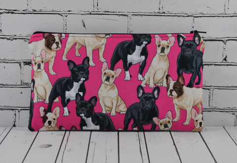 French Bulldog Pencil Case. Dog Zip Pouch