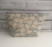 Sheep Make Up Bag, Large Zip Pouch
