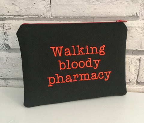 Walking Bloody Pharmacy Zip Pouch - The Curious Needle