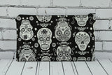Glow in the Dark Sugar Skull Pencil Case - The Curious Needle