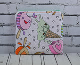 Kawaii Ice Cream Coin Pouch, Cute Small Zippered Pouch - The Curious Needle