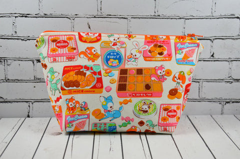 Kawaii Candy Makeup Bag, Cute Deer Cosmetic Pouch - The Curious Needle