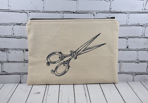 Sewing Shears Notions Bag, Large Scissors Zip Pouch