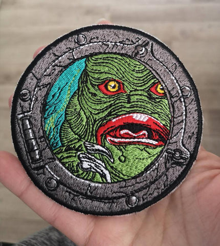 Creature From The Black Lagoon Patch, Classic Movie Monsters Patch, Embroidered Patch - The Curious Needle