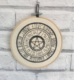 Pagan and Zodiac Wall Art, Embroidered Hoop Art - The Curious Needle