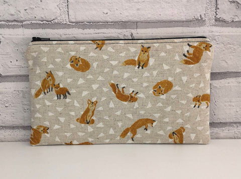 Fox Pencil Case Bag - The Curious Needle