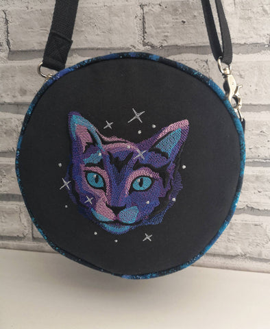 Galaxy Cat Cross Body Bag, Adjustable Strap Space Handbag - The Curious Needle