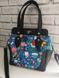 Colourful Floral Bee Handbag, Top Handle Bag Purse - The Curious Needle