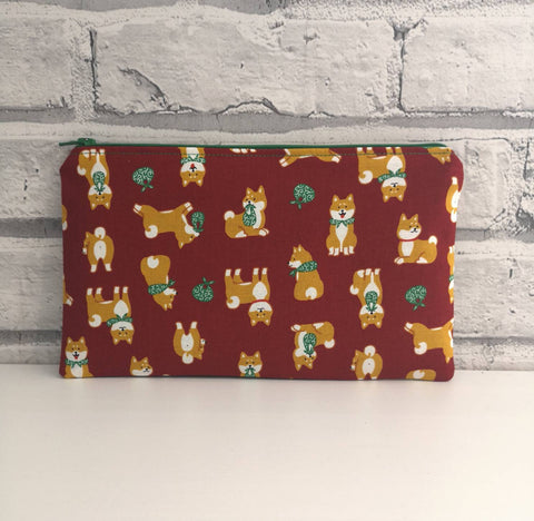 Shiba Inu Pencil Case, Dog Owner Gift - The Curious Needle