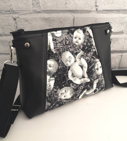 Creepy Doll Crossbody Bag