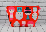 Kokeshi Doll Cosmetic Bag