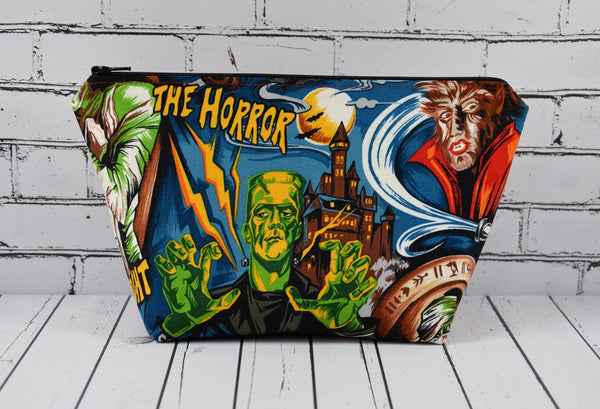 Movie Monsters Makeup Bag. A perfect gift for any horror fan!