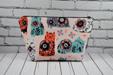 Pastel Cats Makeup Bag, Large Zip Pouch
