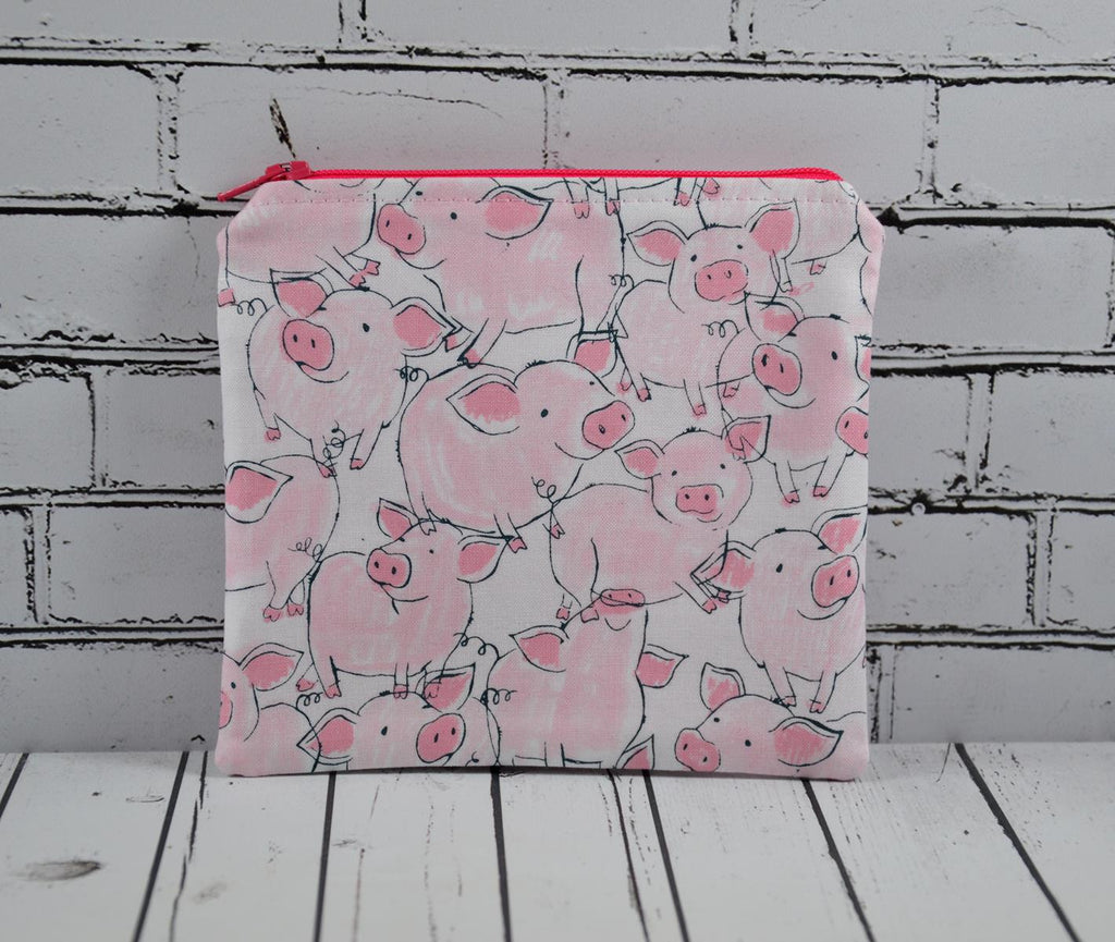 Pigs Coin Pouch, Cute Small Zippered Pouch
