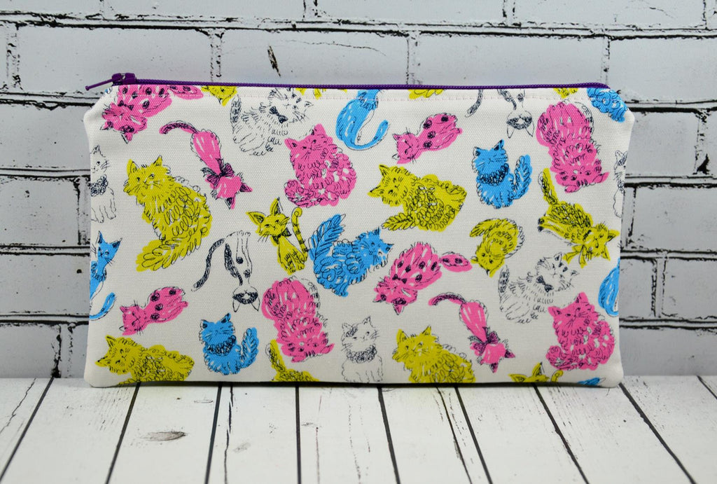 Neon Cats Pencil Case
