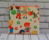 Retro Sweet Shop Coin Pouch, Cute Small Zippered Pouch