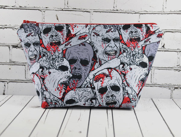 Zombie Makeup Bag, Large Zip Pouch