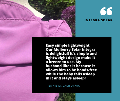 integra baby carrier solar water review