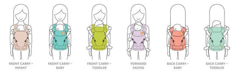 best baby carriers 6-in-1 babywearing
