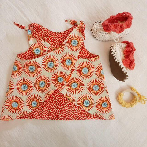 Summer Babywearing Little Zen One - Smock Top Babywearing Petal Booties Freja Toys Natural Teether
