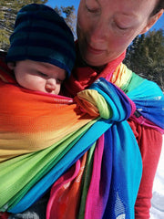 Didymos Rainbow Fish DidySling action Canada USA Little Zen One