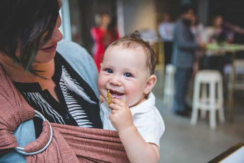 babywearing little zen one alcon kitchen party