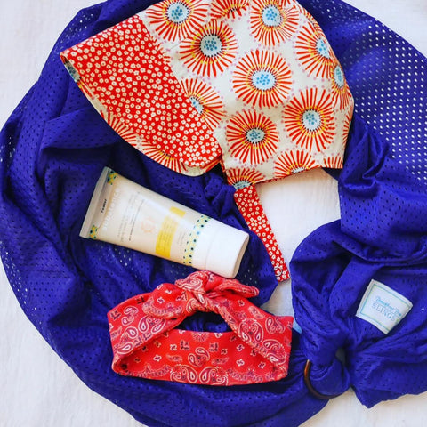 Water Carrier ring sling Beachfront Baby safe best sunscreen matter substance ollie jones patouche