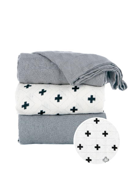 Baby & Parent Care - Tula Blanket Set -  Splatter Jet