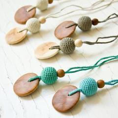 Babywearing Accessories - FrejaToys Natural Silk And Wood Necklaces