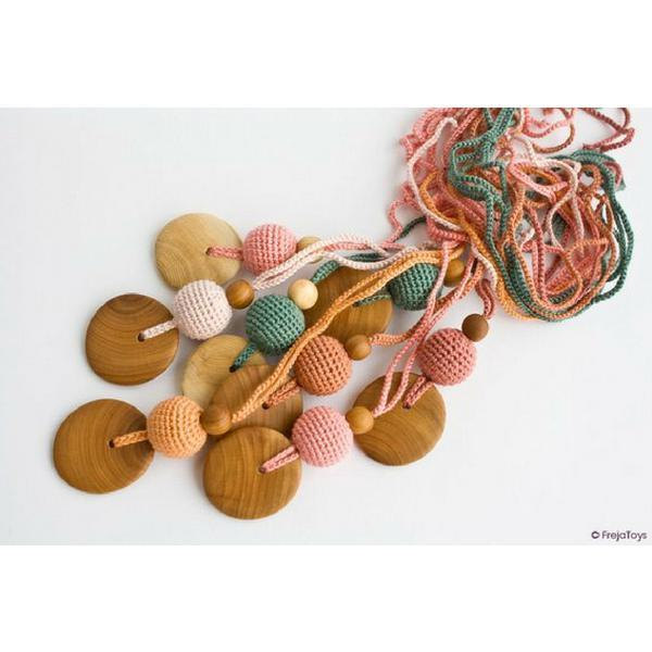 Babywearing Accessories - FrejaToys Natural Silk And Wood Necklaces Forest