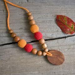 Babywearing Accessories - FrejaToys Organic Cotton Necklace Autumn