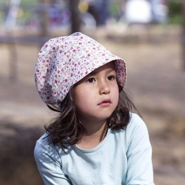 Babywearing Accessories - Pickapooh Organic Cotton Sun Bonnet: Luna Bloom