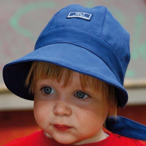 Babywearing Accessories - Pickapooh Organic Cotton UV Sun Bonnet: Amelie Marine